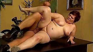 Untruthful on the table too heavy inexpert mature whore gets fucked hard
