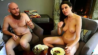 Bound chunky special brunette welcomes chunky cock in botheration