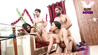 INDIAN Team up WIFE SWAPPING - 2 Dicks In One Chick