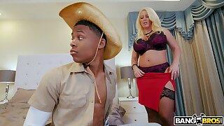 Balls deep interracial sex with big-busted blonde model Alura TNT Jenson