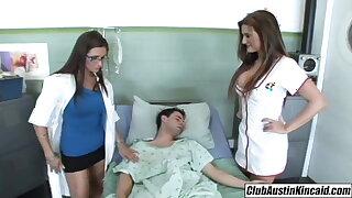 Big titty nurse Austin Kincaid, female doctor fucks big rod