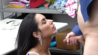 Messy facial ending for beautiful Tia Cyrus limitation a quickie